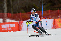 James STANTON competing in the Alpine Skiing Super Combined Slalom at the 2014 Sochi Winter Paralympic Games, Russia