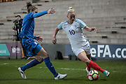 Toni Duggan (England) (Manchester City) during the Women's International Friendly match between England Ladies and Italy Women at Vale Park, Burslem, England on 7 April 2017. Photo by Mark P Doherty.