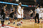 November 30, 2013: Terran Petteway (5) of the Nebraska Cornhuskers yells after drawing a foul at the Pinnacle Bank Areana, Lincoln, NE. Nebraska defeated Northern Illinois 63 to 58.