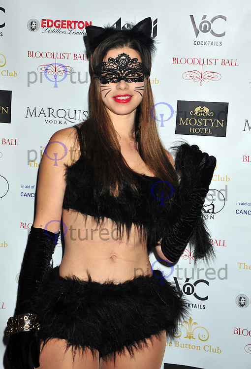 Tina Barrett attends the 6th annual Bloodlust Ball at One Mayfair church London . Photo credit should read ALAN ROXBOROUGH /Piqtured