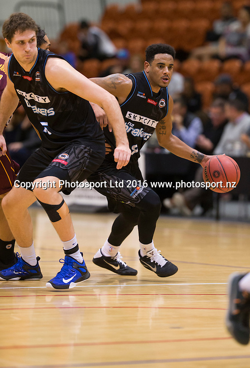 Breaker's Cory Webster in action. NBL Preseason basketball, NZ Breakers v Brisbane Bullets, PG Arena, Napier, New Zealand. Thursday 16 September, 2016. Copyright photo: John Cowpland / www.photosport.nz