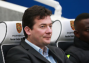 Charlton Athletic interim head coach Karel Fraeye with a resigned expression during the Sky Bet Championship match between Brighton and Hove Albion and Charlton Athletic at the American Express Community Stadium, Brighton and Hove, England on 5 December 2015. Photo by Bennett Dean.