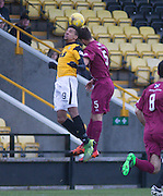 East Fife&rsquo;s Nathan Austin and Arbroath&rsquo;s Craig Watson  - East Fife v Arbroath, SPFL League Two at New Bayview<br /> <br />  - &copy; David Young - www.davidyoungphoto.co.uk - email: davidyoungphoto@gmail.com