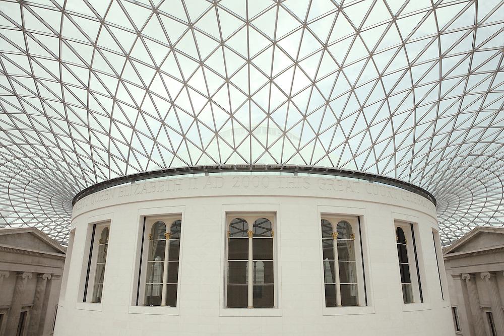 Interior Rotunda Wide Ceiling View British Museum - London, UK