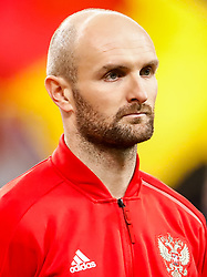 November 15, 2018 - Leipzig, Germany - Konstantin Rausch of Russia looks on during the international friendly match between Germany and Russia on November 15, 2018 at Red Bull Arena in Leipzig, Germany. (Credit Image: © Mike Kireev/NurPhoto via ZUMA Press)