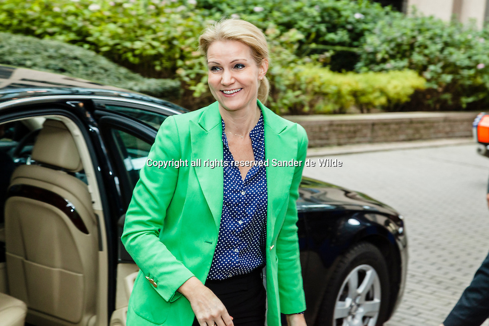 Denmark's Prime Minister Helle Thorning-Schmidt arrives at an EU summit in Brussels on Friday, Oct. 19, 2012. European leaders have taken a step towards the creation of a single supervisor for banks in countries that use the euro but details over when it will be up and running have yet to be ironed out.