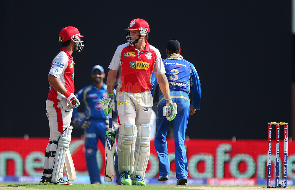 Mandeep Singh and Adam Gilchrist open the batting during match 69 of the Pepsi Indian Premier League between The Kings XI Punjab and the Mumbai Indians held at the HPCA Stadium in Dharamsala, Himachal Pradesh, India on the on the 18th May 2013..Photo by Ron Gaunt-IPL-SPORTZPICS ..Use of this image is subject to the terms and conditions as outlined by the BCCI. These terms can be found by following this link:..http://www.sportzpics.co.za/image/I0000SoRagM2cIEc