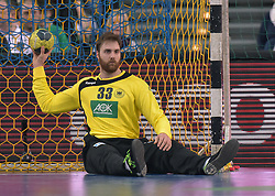 11.03.2016, Leipzig, GER, Handball Länderspiel, Deutschland vs Katar, Herren, im Bild Andreas Wolff (GER #33) // during the men's Handball international Friendlies between Germany and Qatar in Leipzig, Germany on 2016/03/11. EXPA Pictures © 2016, PhotoCredit: EXPA/ Eibner-Pressefoto/ Modla<br /> <br /> *****ATTENTION - OUT of GER*****
