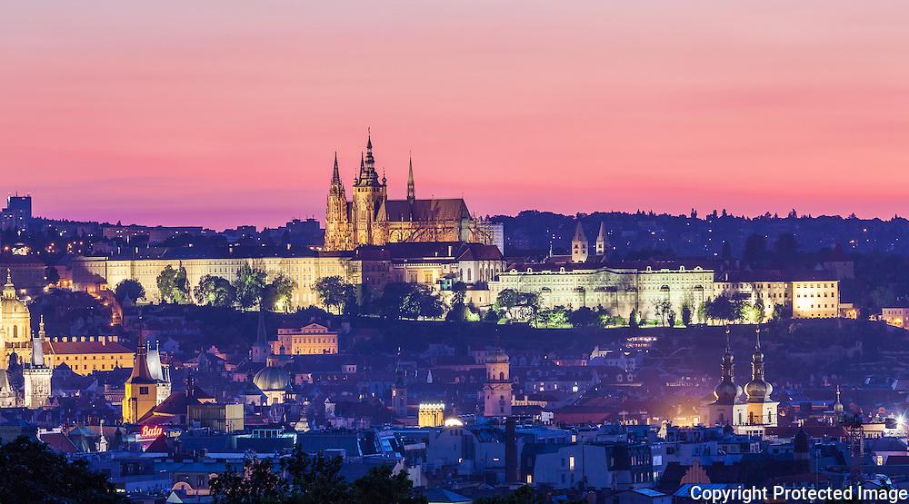 Prague Castle at Dusk, Czech Republic