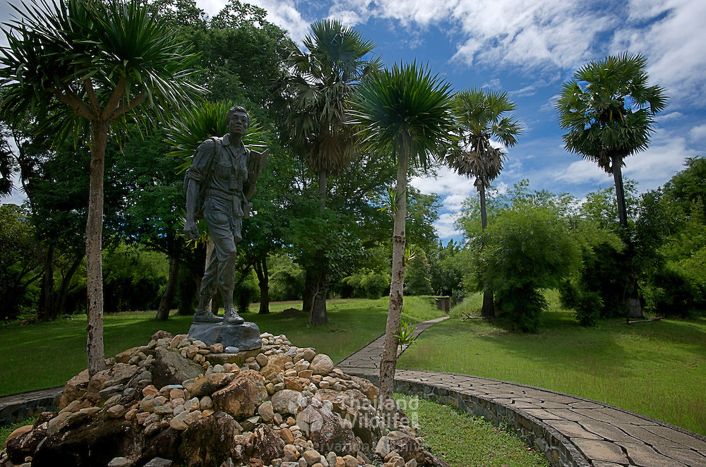 Seub Nakhasathien Memorial in The Thung Yai Naresuan / Huai Kha Khaeng Wildlife Sanctuary in Thailand. Thailands most famous conservationist who took his own life in despair of the lack of support of the Thai Government for conservation issues.