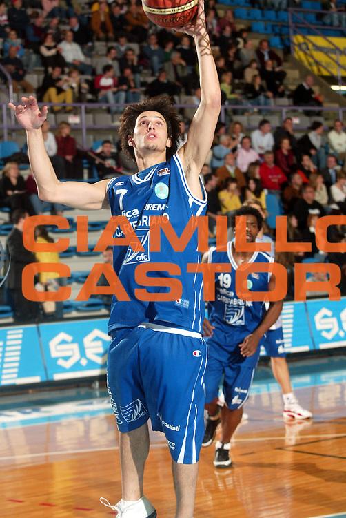 DESCRIZIONE : Faenza Lega A2 2005-06 Zarotti Imola Carifabriano Fabriano <br /> GIOCATORE : Infanti <br /> SQUADRA : Carifabriano Fabriano <br /> EVENTO : Campionato Lega A2 2005-2006 <br /> GARA : Zarotti Imola Carifabriano Fabriano <br /> DATA : 09/04/2006 <br /> CATEGORIA : Tiro <br /> SPORT : Pallacanestro <br /> AUTORE : Agenzia Ciamillo-Castoria/M.Marchi
