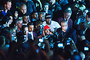 May 5, 2012: Boxing superstar Floyd Mayweather Jr (43-0, 26 KOs) dethroned WBA super welterweight world champion Miguel Cotto (37-3, 30 KOs) by twelve round unanimous decision on Saturday night at the MGM Grand Garden Arena in Las Vegas. A good competitive fight. Floyd had the edge in most rounds over the first six rounds, but Cotto had his moments. Cotto was determined to take the fight to Mayweather and bloodied his nose early on. Big round eight for Cotto who went all out for the KO as he launched the most violent attack Floyd has faced in his career to date. It was Cottos last hurrah, however, as after that Mayweather took control, staggering Cotto in the final stanza. Scores were 117-111, 117-111, 118-110...