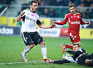 (L) Legia's Orlando Sa shoots the goal during T-Mobile ExtraLeague soccer match between Legia Warsaw and Wisla Krakow in Warsaw, Poland.<br /> <br /> Poland, Warsaw, March 15, 2015<br /> <br /> Picture also available in RAW (NEF) or TIFF format on special request.<br /> <br /> For editorial use only. Any commercial or promotional use requires permission.<br /> <br /> Mandatory credit:<br /> Photo by © Adam Nurkiewicz / Mediasport