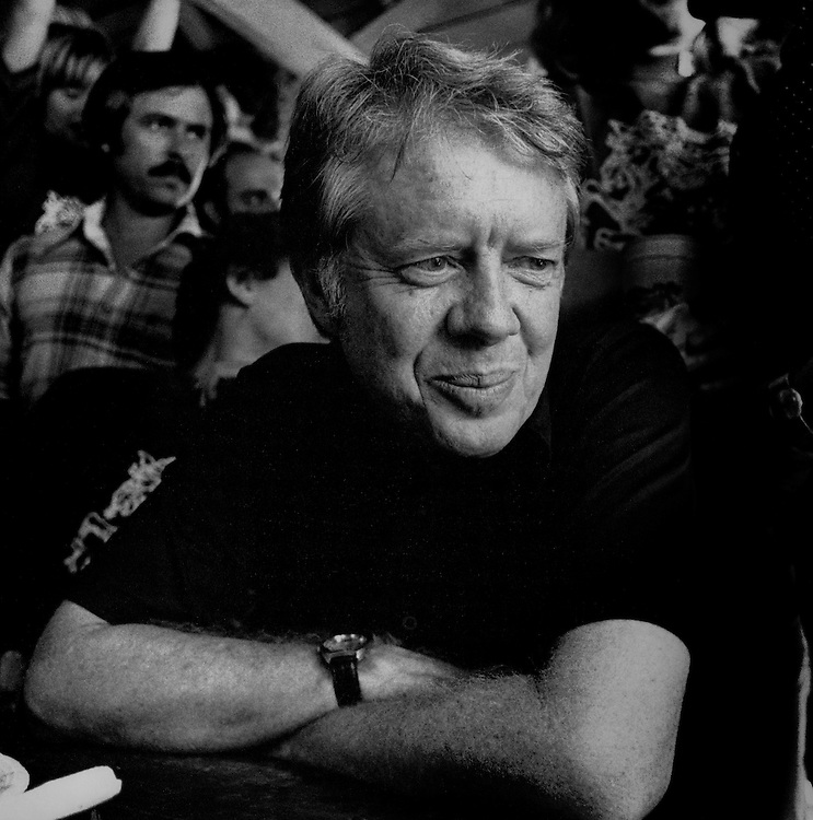 President Jimmy Carter en route from Washington, DC to Los Angeles, California.