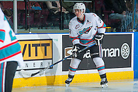 KELOWNA, CANADA - JANUARY 08: Joe Gatenby #28 of Kelowna Rockets skates against the Everett Silvertips on January 8, 2016 at Prospera Place in Kelowna, British Columbia, Canada.  (Photo by Marissa Baecker/Shoot the Breeze)  *** Local Caption *** Joe Gatenby;