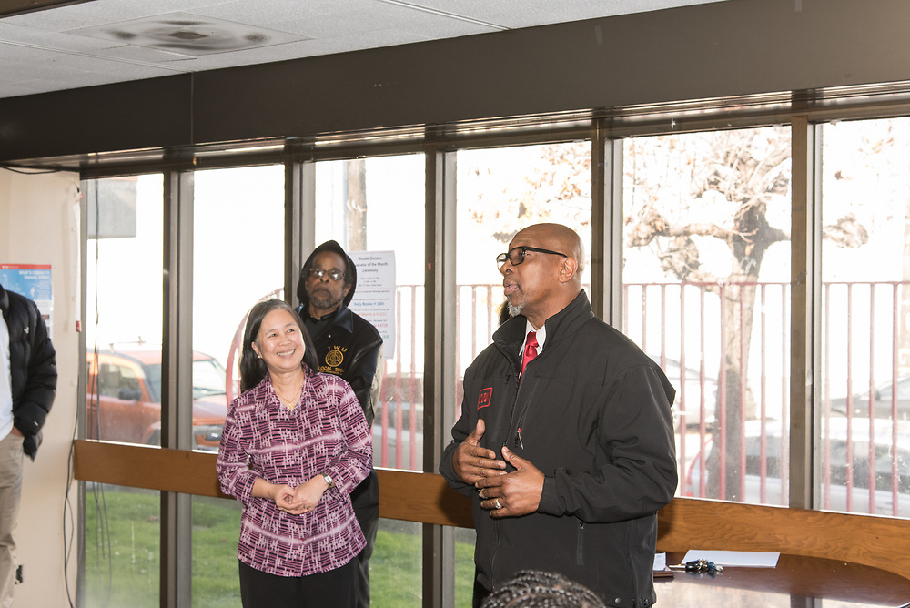 Runner-Up Isheal Martin, Jr. Speaking at Woods Division Systemwide Operator of the Month Ceremony | January 12, 2018