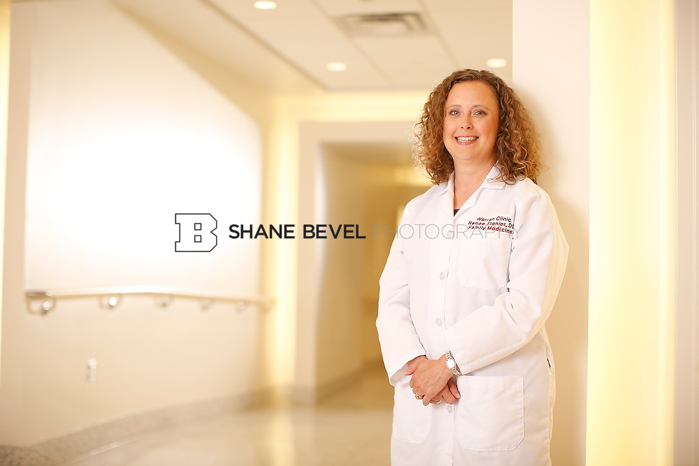 5/28/15 4:20:16 PM -- Dr. Renee Frenier of Saint Francis Health System poses for a portrait for the 2015 Advertising Campaign. <br /> <br /> Photo by Shane Bevel