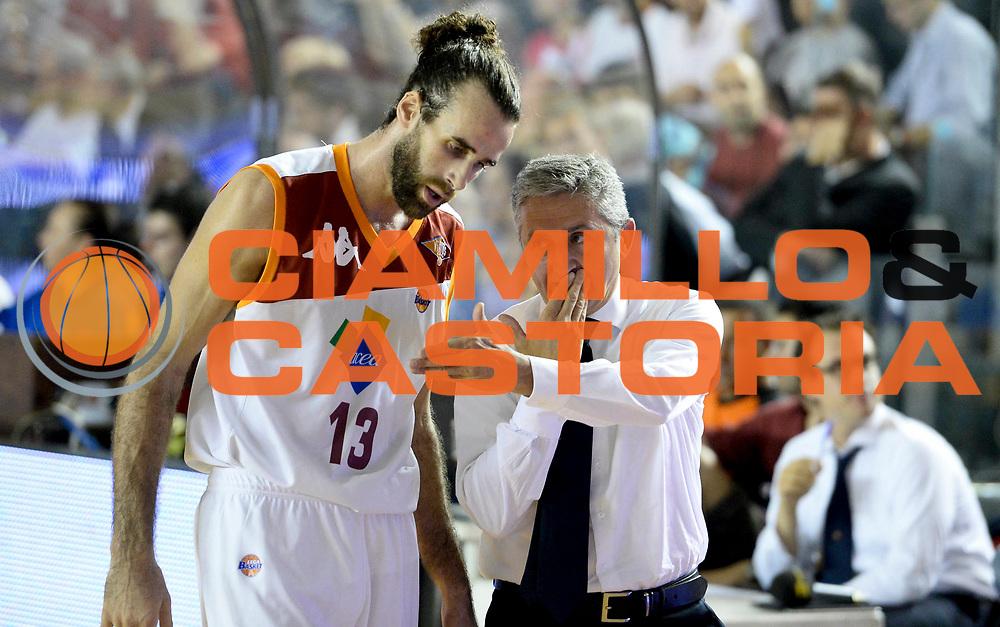 DESCRIZIONE : Roma Lega A 2012-13 Acea Virtus Roma Montepaschi Siena Finale Gara 5<br /> GIOCATORE : Luigi Datome Marco Calvani<br /> CATEGORIA : coach schema mani<br /> SQUADRA : Acea Virtus Roma<br /> EVENTO : Campionato Lega A 2012-2013 Play Off Finale Gara 5<br /> GARA : Acea Virtus Roma Montepaschi Siena Finale Gara 5<br /> DATA : 19/06/2013<br /> SPORT : Pallacanestro <br /> AUTORE : Agenzia Ciamillo-Castoria/N. Dalla Mura<br /> Galleria : Lega Basket A 2012-2013 <br /> Fotonotizia : Roma Lega A 2012-13 Acea Virtus Roma Montepaschi Siena Finale Gara 5