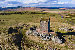 View of Smailholm Tower in Scottish Borders, Scotland UK