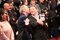 Director Arnaud Desplechin and actor Mathieu Amalric at the red carpet for the gala screening of Jimmy P. Psychotherapy of a Plains Indian film at the Cannes Film Festival 18th May 2013