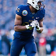 Navy Wide receiver Brandon Turner #86 in the second quarter of the 112th version of this storied rivalry Saturday, Dec. 10, 2011 at Fed EX field in Landover Md. ..Navy set the tone early in the game as Navy defeats Army 31-17 in front of 82,000 at Fed EX Field in Landover Md