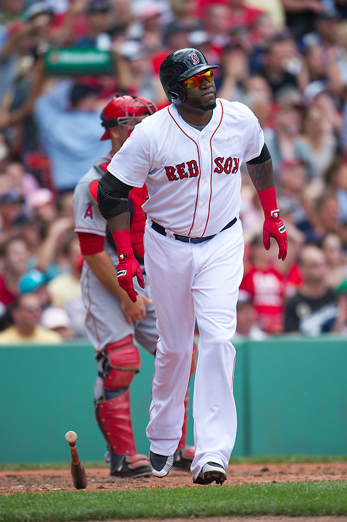 BOSTON, MA - JUNE 09: David Ortiz #34 of the Boston Red Sox bats during the game against the Los Angeles Angels at Fenway Park in Boston, Massachusetts on June 9, 2013. (Photo by Rob Tringali) *** Local Caption *** David Ortiz