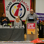London, England, UK. 21st October 2017. Hundreds attend the National Conference: Confronting the rise in racism, Islamophobia and anti-semitism in the U.S. and Europe at the Friends House, Euston.