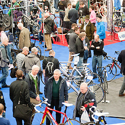 London, UK - 17 January 2013: crowd visiting the London Bike show 2013 at Excel.