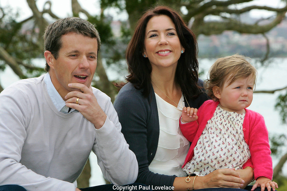 Crown Prince Frederik and Crown Princess Mary of Denmark and their children Prince Christian and Princess Isabella  at Government House, Sydney - Australia - 3rd Sep 2008.