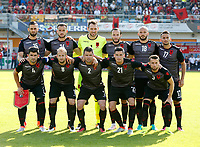 Fotball<br /> Albania v Qatar<br /> Foto: Gepa/Digitalsport<br /> NORWAY ONLY<br /> <br /> HARTBERG,AUSTRIA,29.MAY.16 - SOCCER - UEFA European Championship 2016 in France, preview, international match, Albania vs Qatar, friendly match. Image shows from left in 2nd row: Mergim Mavraj, Sokol Cikalleshi, Etrit Berisha, Shkelzen Gashi, Arlind Ajeti and Naser Aliji. In 1st row: Elseid Hysaj, Migjen Basha, Andi Lila, Odise Roshi and Ermir Lenjani (ALB).