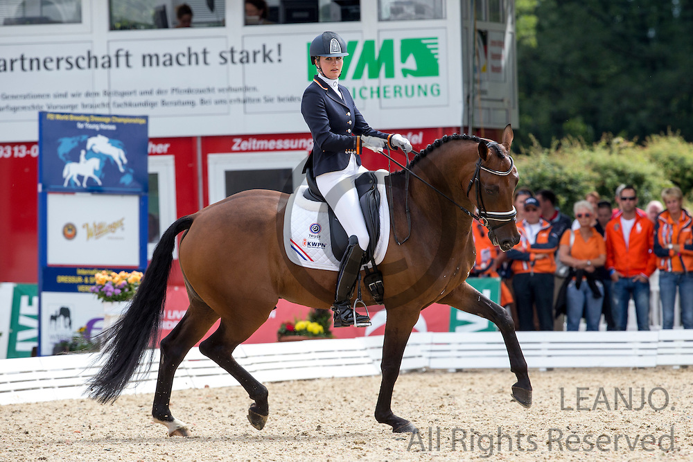 Emmelie Scholtens - Santo Domingo<br /> FEI World Breeding Dressage Championships for Young Horses 2012<br /> © DigiShots