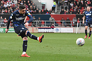 Leeds United midfielder Pablo Hernandez (19) shoots at goal during the EFL Sky Bet Championship match between Bristol City and Leeds United at Ashton Gate, Bristol, England on 9 March 2019.