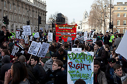 © Licensed to London News Pictures. 14/03/2012. London, U.K..Students March in central London today the 14/3/2012, from Russell Sq to Westminster, protesting against student fees..Photo credit : Rich Bowen/LNP