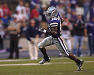 Kansas State wide receiver Yamon Figurs sprints around the end on a reverse for a 38-yard touchdown run against Florida Atlantic in the first half, at Bill Snyder Family Stadium in Manhattan, Kansas, September 9, 2006.  The Wildcats beat the Owls 45-0.