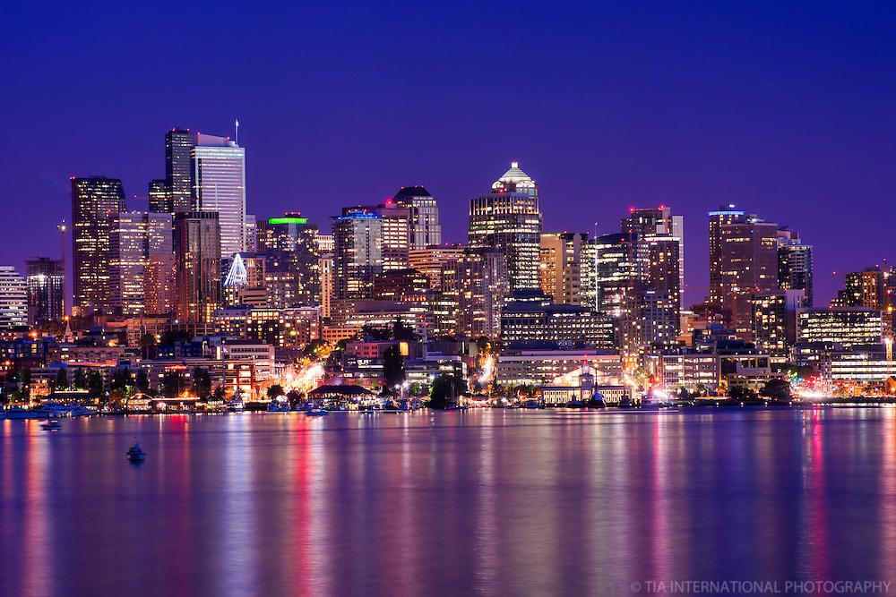 Downtown Seattle & Lake Union @ Twilight