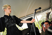 YACHT performing at the Press Here Garden Party at the French Legation, South by Southwest Music Conference, Austin Texas, March 20, 2010.