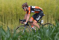 June 17, 2017 - Schaffhausen, Suisse - SCHAFFHAUSSEN, SWISS - JUNE 17 : VAN DER LIJKE Nick of Roompot - Nederlandse Loterij during stage 8 of the Tour de Suisse cycling race, a stage of 100 kms between Schaffhaussen and Schaffhaussen on June 17, 2017 in Schaffhaussen, Swiss, 17/06/2017 (Credit Image: © Panoramic via ZUMA Press)