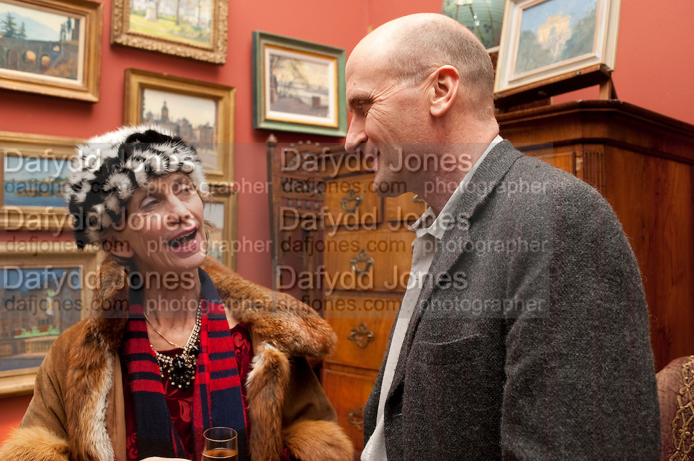 LADY HENRIETTA ROUS; MARQUIS OF NORMANBY, Party to celebrate the publication of Animal Magic by Andrew Barrow. Tite St. London. 28 February 2011.  -DO NOT ARCHIVE-© Copyright Photograph by Dafydd Jones. 248 Clapham Rd. London SW9 0PZ. Tel 0207 820 0771. www.dafjones.com.
