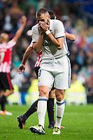 Real Madrid's Karim Benzema during La Liga Match at Santiago Bernabeu Stadium in Madrid. October 23, 2016. (ALTERPHOTOS/Borja B.Hojas)