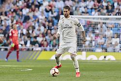 March 16, 2019 - Madrid, Madrid, Spain - Real Madrid's Sergio Ramos seen in action during La Liga match between Real Madrid and Real Club Celta de Vigo at Santiago Bernabeu Stadium in Madrid, Spain. (Credit Image: © Legan P. Mace/SOPA Images via ZUMA Wire)