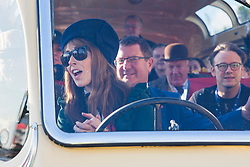 © Hugo Michiels Photography. 06/11/2017. Brighton, UK. BBC The One Show presenter Alex Jones takes part in the 2017 Bonhams London to Brighton Car Run in aid of the BBC Charity Children in Need. The Car Run, organised by the Royal Automobile Club is in its 121st year with some vehicles taking part build in 1896. Photo credit: Hugo Michiels Photography