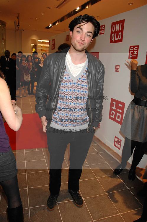 Actor ROBERT PATTINSON at a party to celebrate the opening of the new Uniqlo store at 331 Oxford Street, London W1 on 6th November 2007.<br /><br />NON EXCLUSIVE - WORLD RIGHTS