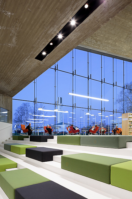PREVIEW IMAGE ONLY - PLEASE CONTACT THE PHOTOGRAPHER FOR PROCESSED HIRES PHOTOGRAPHS : Seinäjoen Apila kirjasto - Apila library in Seinäjoki, Finland designed by JKMM Architects