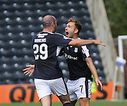 Greg Stewart celebrates the opener with Gary Harkins  - Kilmarnock v Dundee - Ladbrokes Scottish Premiership at Rugby Park<br /> <br />  - &copy; David Young - www.davidyoungphoto.co.uk - email: davidyoungphoto@gmail.com
