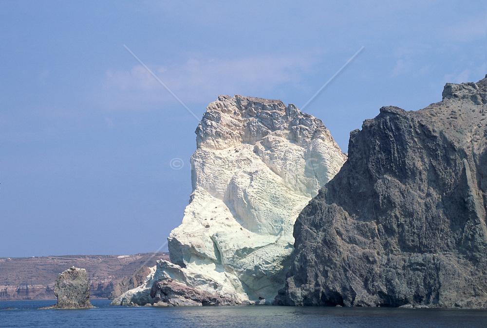Beautiful rock formation in Santorini, Greece