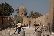 Egypt. Cairo - the tombs and mausoleum of The Northern cemetery and houses in Islamic Cairo  +