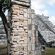 Stone ruins at Chichen Itza, a Mayan city in the middle of Mexico's Yucatan Peninsula.