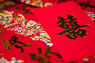 chinese script & red envelopes