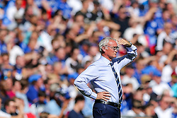 Leicester City manager Claudio Ranieri looks on - Rogan Thomson/JMP - 07/08/2016 - FOOTBALL - Wembley Stadium - London, England - Leicester City v Manchester United - The FA Community Shield.