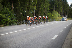 The Boels-Dolmans Cycling Team digs deep during the 42,5 km team time trial of the UCI Women's World Tour's 2016 Crescent Vårgårda women's road cycling race on August 19, 2016 in Vårgårda, Sweden. (Photo by Balint Hamvas/Velofocus)